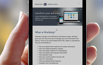 Workday Resources Mobile Website